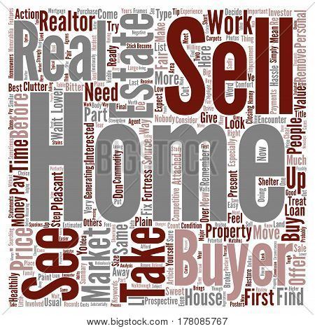 Easy Way To Sell Your Home text background word cloud concept
