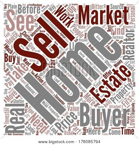 Easy Way To Sell Your Home Word Cloud Concept Text Background