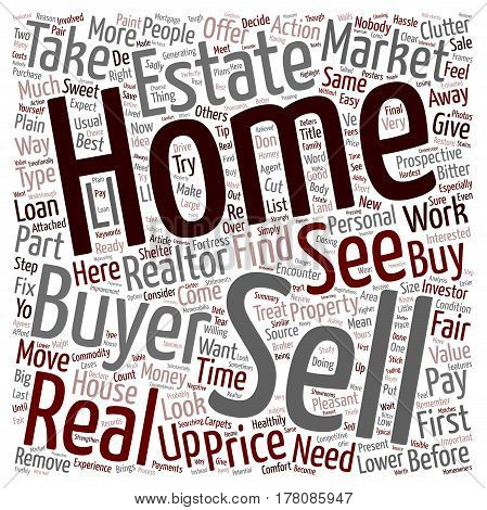 Easy Way To Sell Your Home text background wordcloud concept