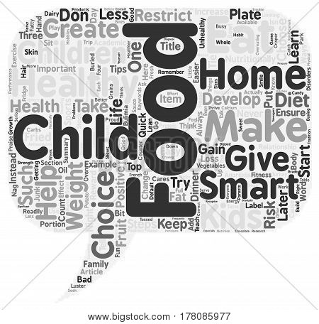 Easy Ways to a Healthy Diet for Kids text background wordcloud concept