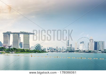 Landscape and urban city of Singapore., Downtown of Singapore.