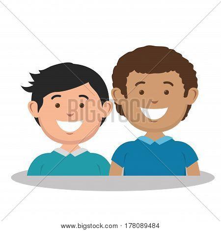 family members avatars characters vector illustration design