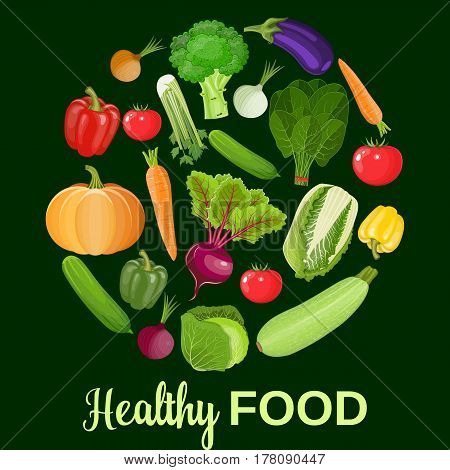 Healthy vegetables and vegetarian food banners Fresh organic food, healthy eating . illustration in flat style