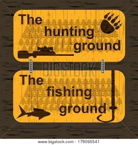 A sign for the hunting and fishing grounds.