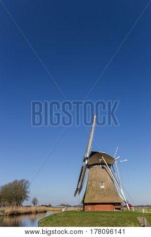 Dutch Windmill 'krimstermolen' In Groningen