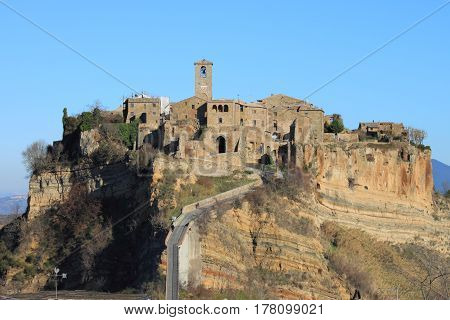 Civita di Bagnoregio the dying city near Rome, Italy