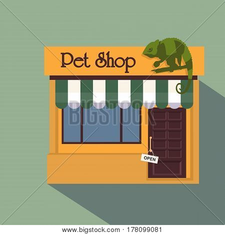 Vector Illustration Of A Pet Shop With Large Window Display On A Street. Also Includes Illustration