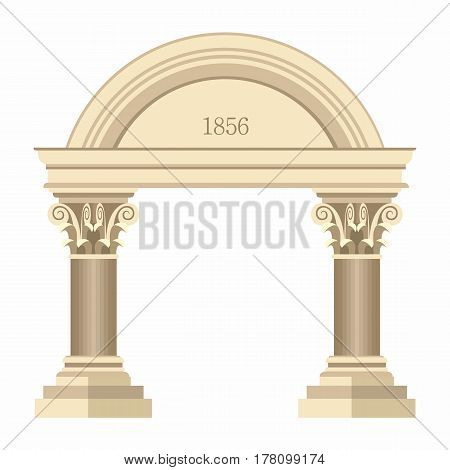 Illustration Realistic Antique Greek Corinthian Archway