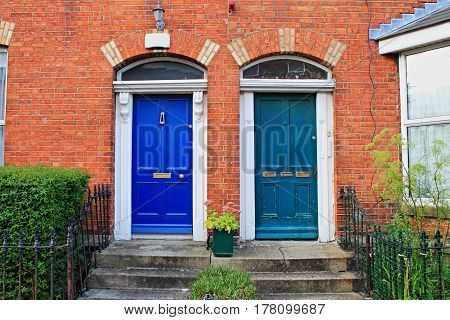 Some typical georgian doors in Dublin Ireland