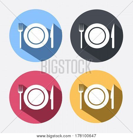kitchen icon of dish fork and knife