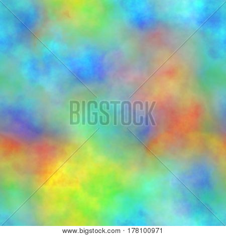 Abstract colorful smoke, Multicolor clouds, Rainbow cloudy pattern, Blurry gas, Blurs, Steam, Fog, Foggy color spectrum, Texture background, Seamless illustration