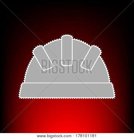 Baby sign illustration. Postage stamp or old photo style on red-black gradient background.