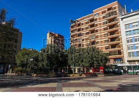 Street of Castellon in Valencia (Spain). November 2007