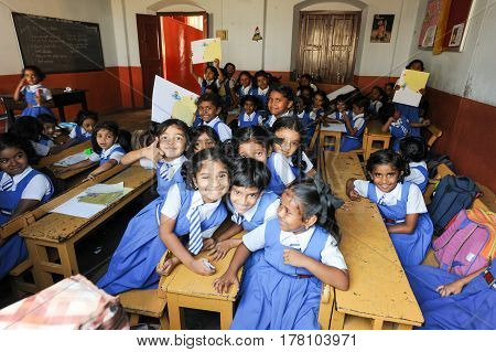 Pupils In Classroom At Them School Of Fort Cochin