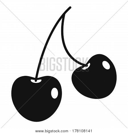 Two cherry berries icon. Simple illustration of two cherry berries vector icon for web