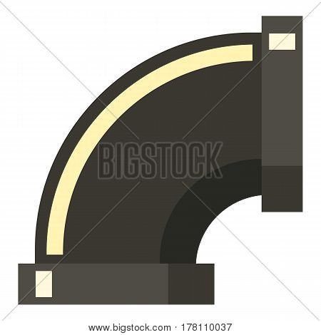 Sewage pipe icon. Flat illustration of sewage pipe vector icon for web isolated on white background