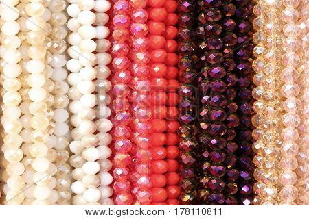 Jewelery Necklaces With Beads Photographed With A Macro Lens