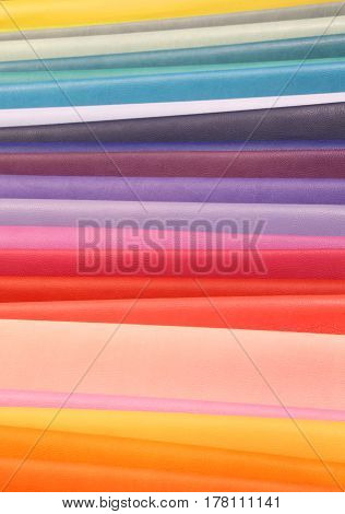 background with colorful pieces of Italian leather tanneries