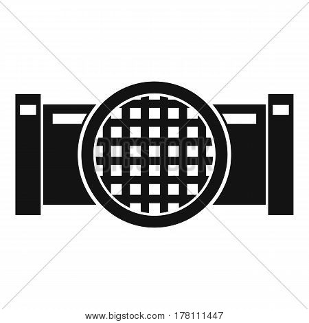 Drain pipe icon. Simple illustration of drain pipe vector icon for web