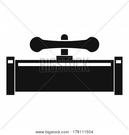 Plumbing valve icon. Simple illustration of plumbing valve vector icon for web