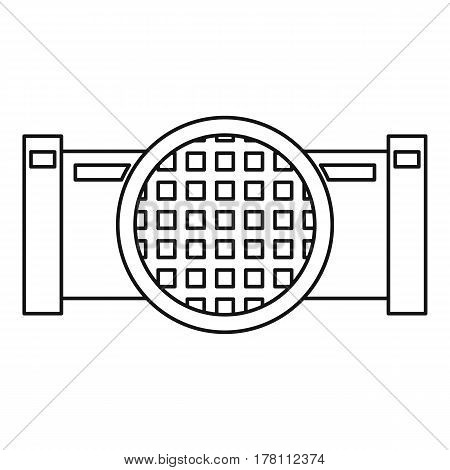Drain system icon. Outline illustration of drain system vector icon for web