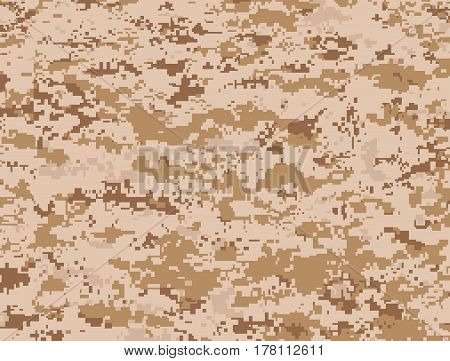 Vector texture of camel pixels camouflage for the desert