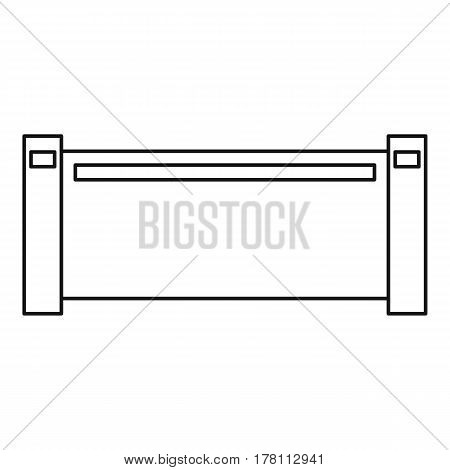 Pipe piece icon. Outline illustration of pipe piece vector icon for web