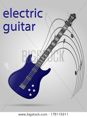 electric guitar musical instruments stock vector illustration isolated on gray background