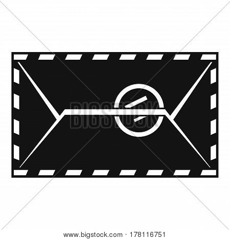 Mail envelope with a stamp icon. Simple illustration of mail envelope with a stamp vector icon for web
