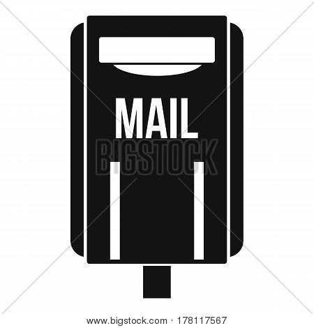 Post box icon. Simple illustration of post box vector icon for web