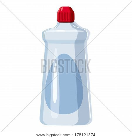Detergent white bottle icon. Cartoon illustration of detergent white bottle vector icon for web