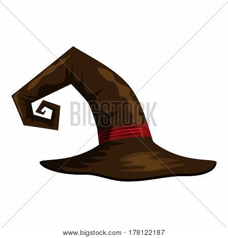 Witch hat icon. Cartoon illustration of witch hat vector icon for web