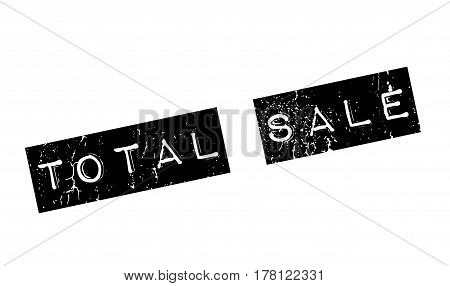 Total Sale rubber stamp. Grunge design with dust scratches. Effects can be easily removed for a clean, crisp look. Color is easily changed.