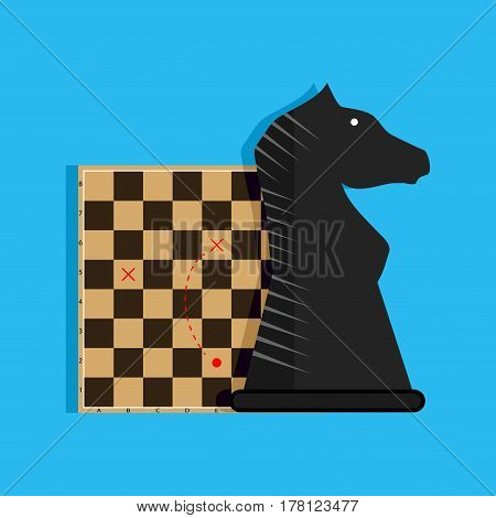 Strategy and tactics. Plan game business chess play success vector illustration