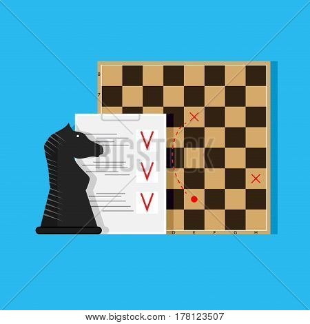 Plan and tactics. Strategy concept business. Vector illustration