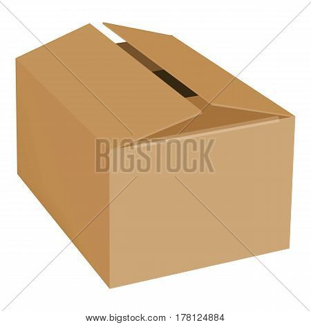 Empty box mockup. Realistic illustration of empty box vector mockup for web