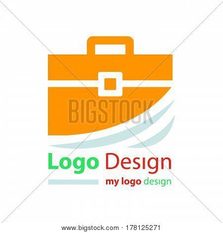 logo design bag orange color vector design support eps10.