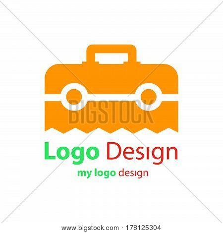 logo design vector bag orange color vector design support eps10.
