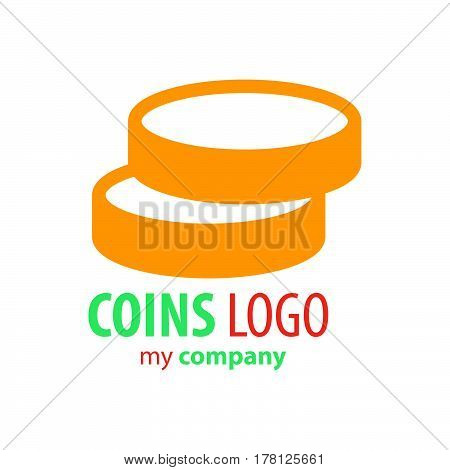 Logo Coins design yellow color  vector design support eps10.