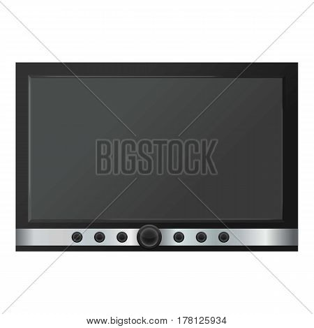 TV screen mockup. Realistic illustration of TV screen vector mockup for web
