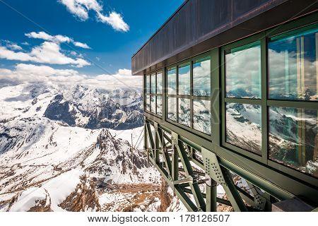 Breathtaking View From Summit Of Sass Pordoi, Dolomites, Italy, Europe