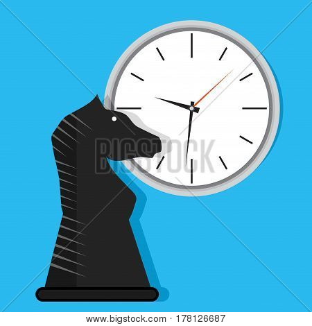 Time strategy vector. Organization tactical idea effective process work time illustration