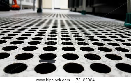 Perforated Airflow Panel or server room background