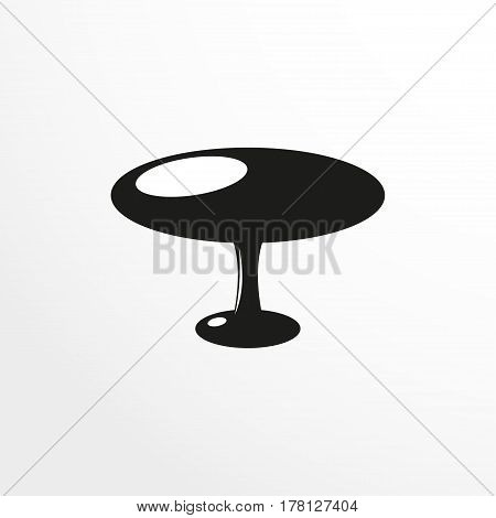 Pieces of furniture. Coffee table. Vector illustration. Two-color isolated object on a light background.