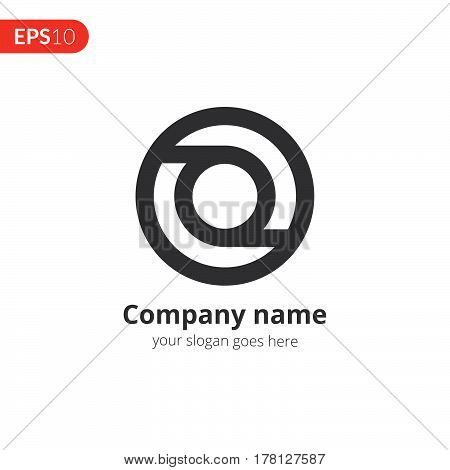 Circle logo vector design. Business logo. Monochrome sphere symbol element. Grey color icon on isolated white background.