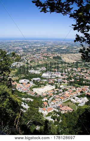 View on San Marino, the Republic of San Marino