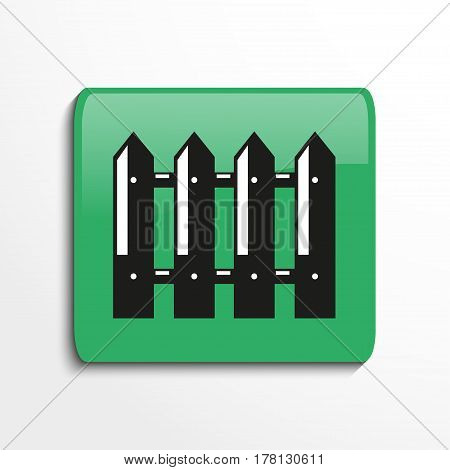 Garden fence. Vector icon. Conditional vector image in the form of color.