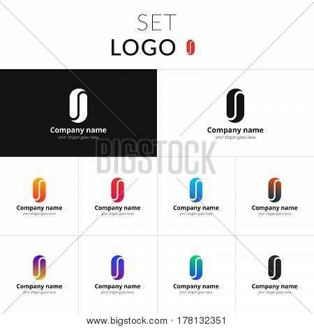 Infinity abstract logo vector design. Loop shape identity set icon for company or brand on gradient background. Colorful emblem on isolated white background.