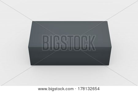 Solid Grey Box Top View
