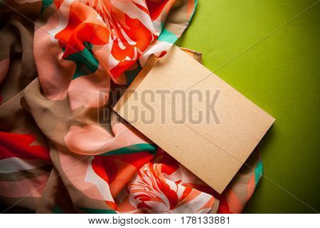 rerto background with drapery and notebook with copy space